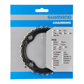 Shimano SLX FC-M672/FC-M622 Klinge AN 96 mm sort